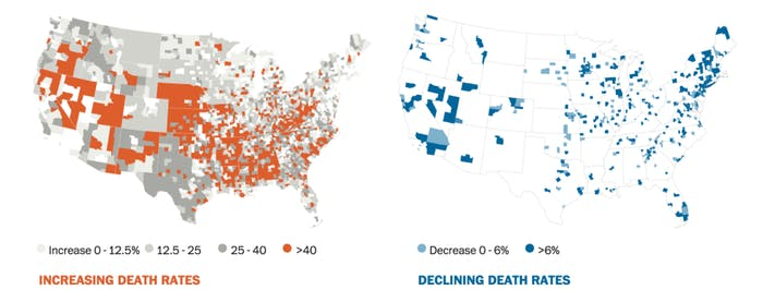 A Washington Post analysis of Centers for Disease Control and Prevention mortality data.
