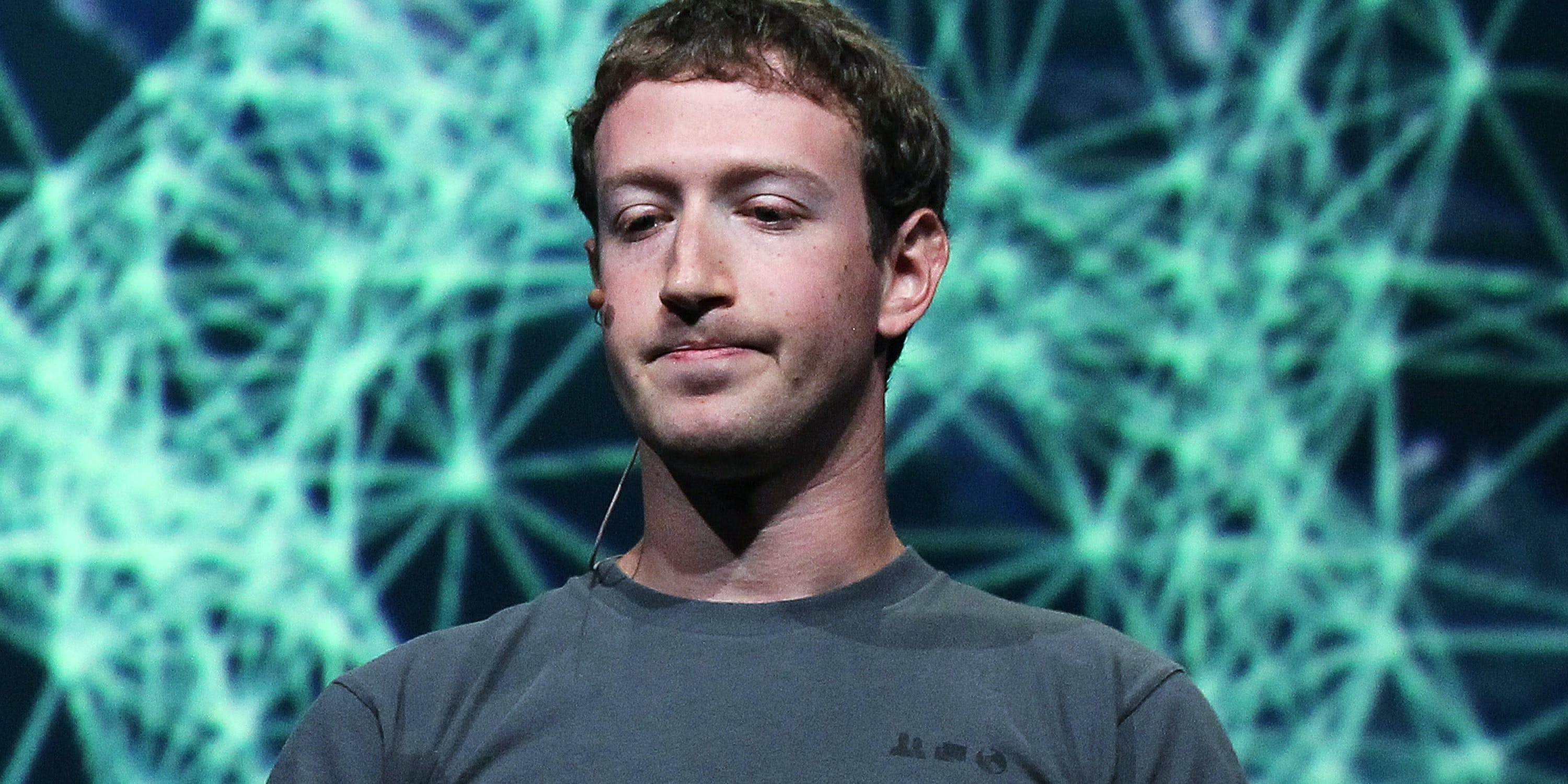 SAN FRANCISCO, CA - SEPTEMBER 22:  Facebook CEO Mark Zuckerberg pauses as he delivers a keynote address during the Facebook f8 conference on September 22, 2011 in San Francisco, California. Facebook CEO Mark Zuckerberg kicked off the conference introducing a Timeline feature to the popular social network.  (Photo by Justin Sullivan/Getty Images)