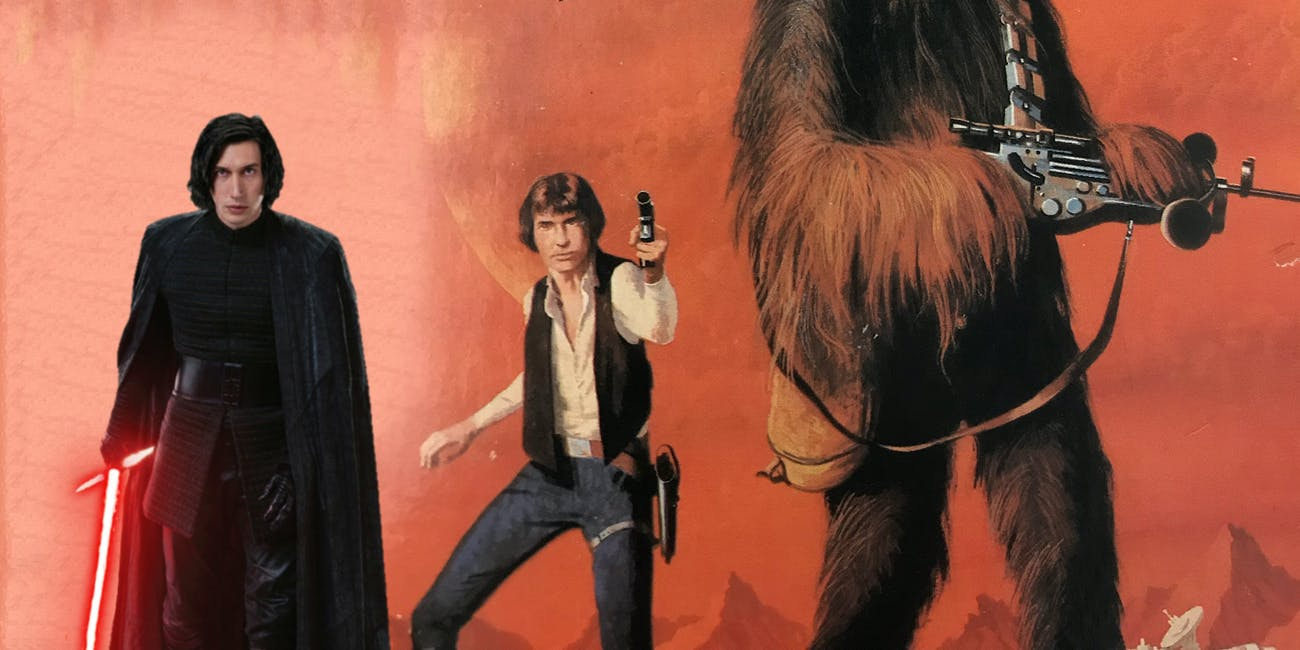 Kylo Ren (Adam Driver) DOES look like his father, at least according to this vintage Han Solo cover art from 1978