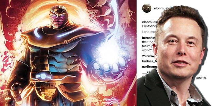 Thanos Elon Musk