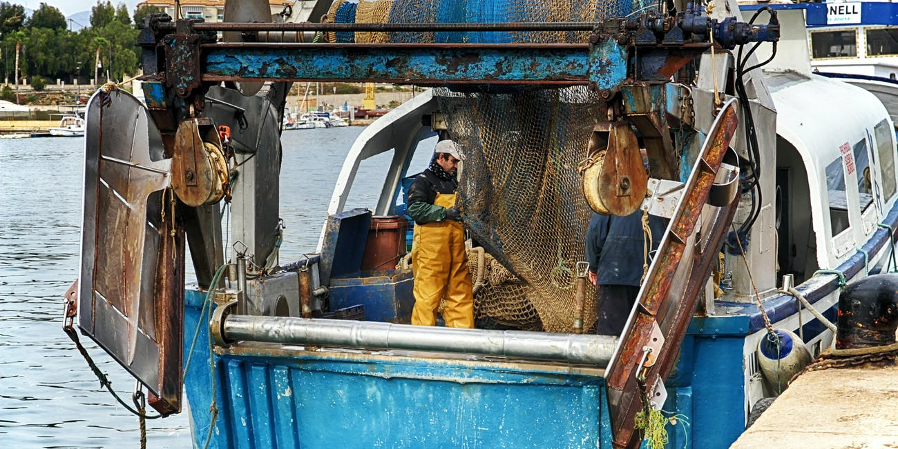 man on a fishing boat