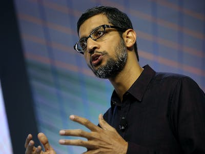 """Google's Sundar Pichai Says """"We're at a Tipping Point"""" for A.I."""