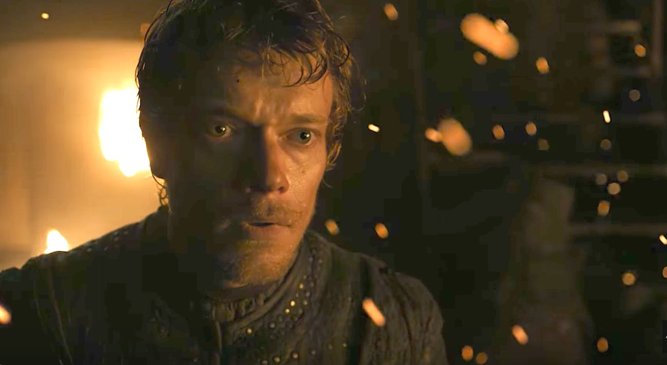 Alfie Allen as Theon Greyjoy in 'Game of Thrones' Season 7