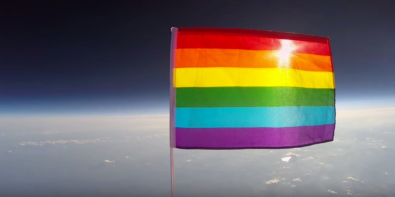 Planting Peace launched the first Pride flag into space.