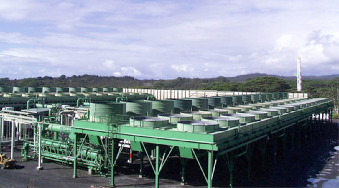 Part of the Puna geothermal plant, before it was destroyed