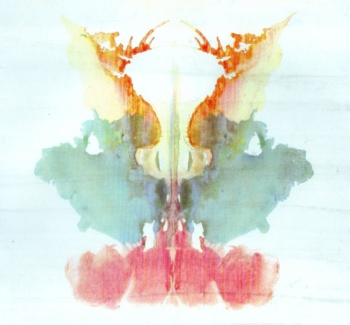 inkblot test orange blue red