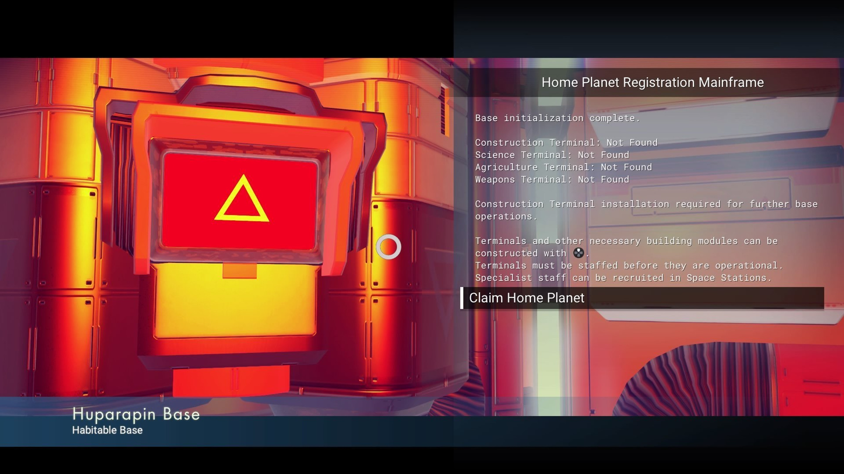 Start out by claiming a home planet