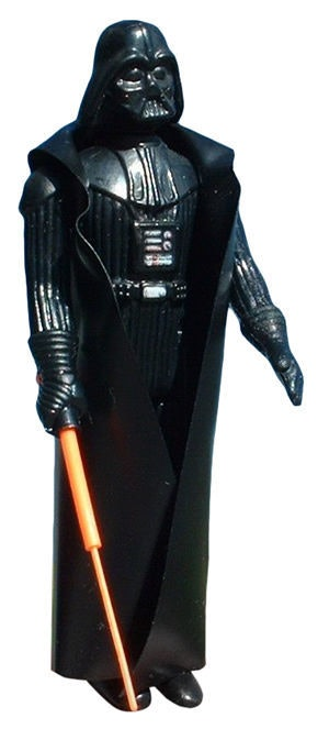 A Darth Vader with double-telescoping lightsaber action figure fetches $7,000 out of the package, and even more in mint condition in its original packaging.