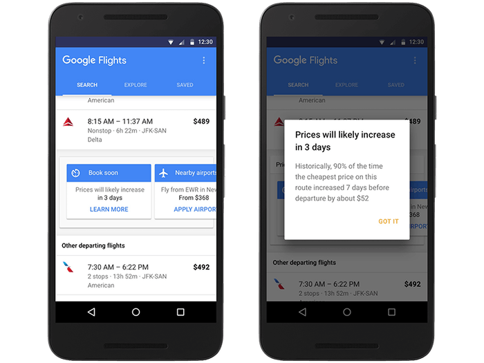 Google Flights now tells you when to expect ticket prices to go up.