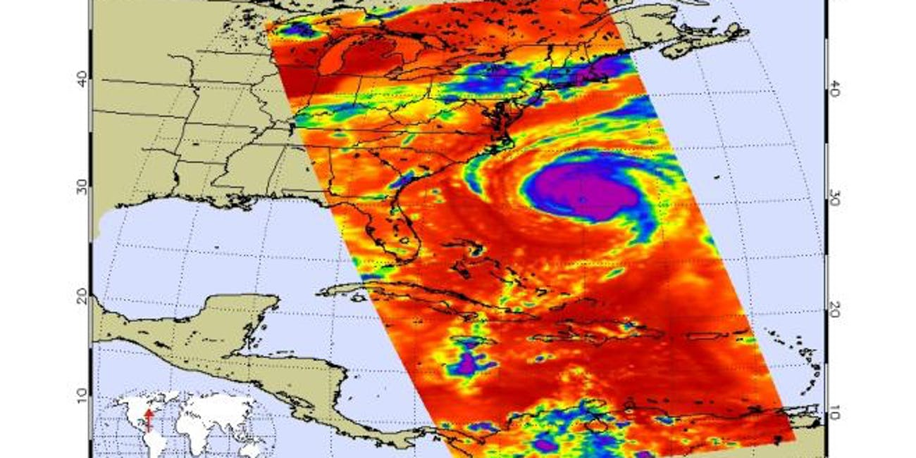 Hurricane Florence infrared image
