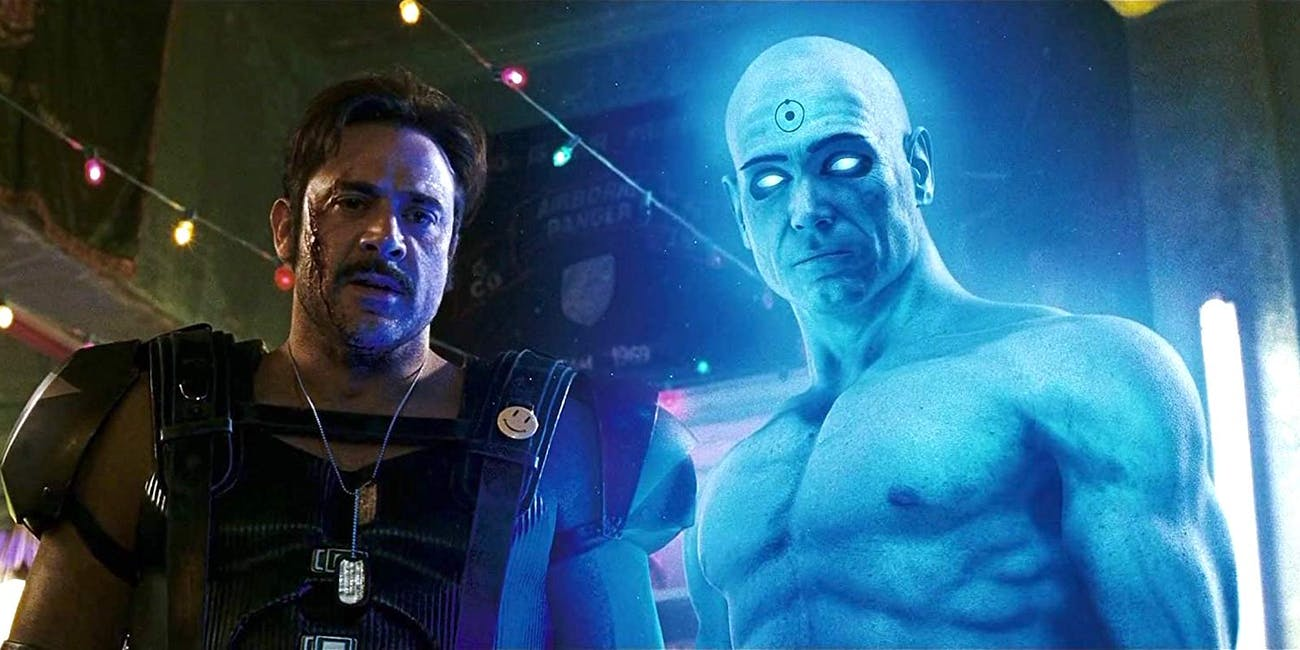Jeffrey Dean Morgan and Billy Crudup star in 2009's 'Watchmen'