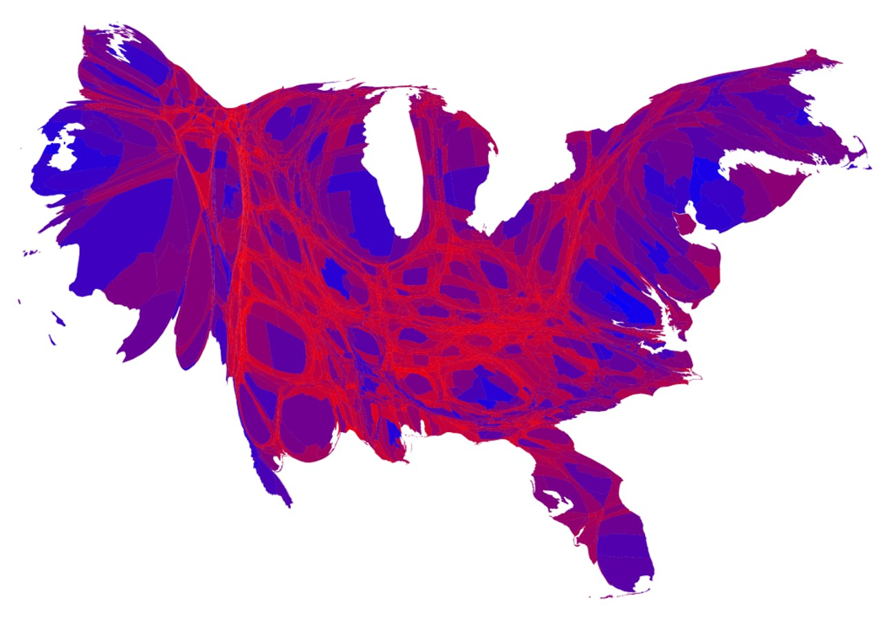 Trump Support By State Map.Detailed Maps Split The U S Into Trumpland And The Clinton