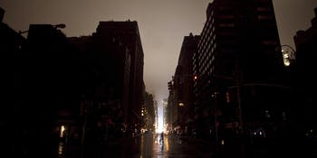 Power outages affected hubs in three American cities.
