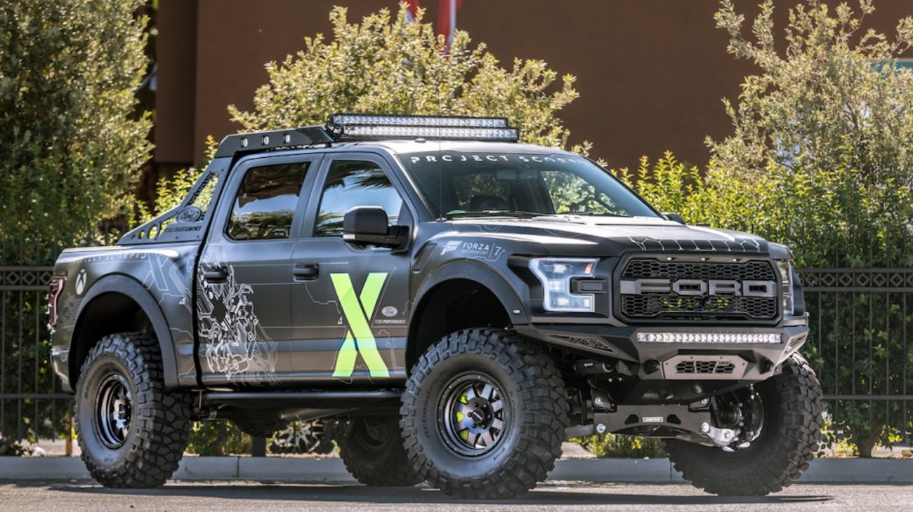 The 2017 Ford F-150 Raptor Xbox One X Edition.