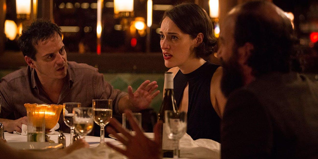 Andrew Scott, Phoebe Waller-Bridge, and Brett Gelman in 'Fleabag' Season 2