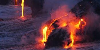 lava volcano water