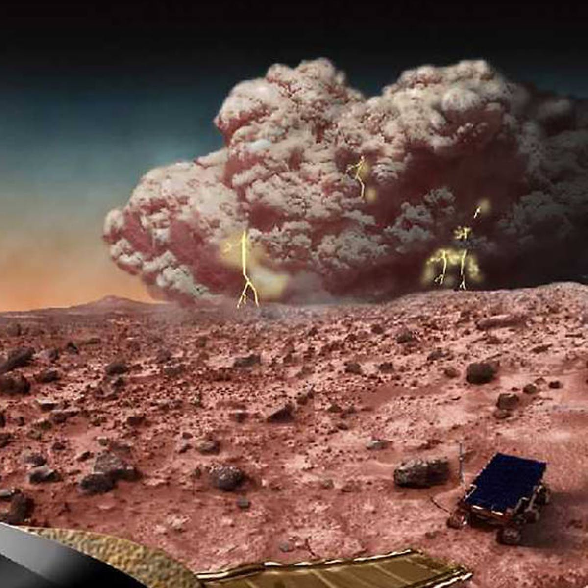 Massive dust towers may have dried up water supplies on Mars