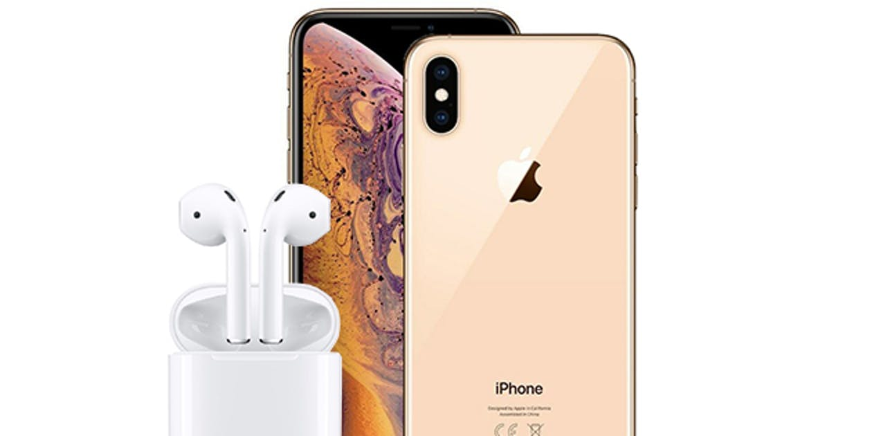 apple iphone, apple xs max, apple airpods