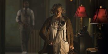 "Jodie Foster plays the ""Nurse"" in 'Hotel Artemis'."