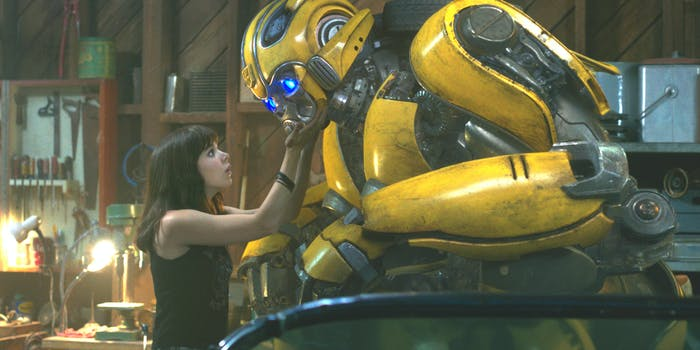 Charlie and Bumblebee in 'Bumblebee'.