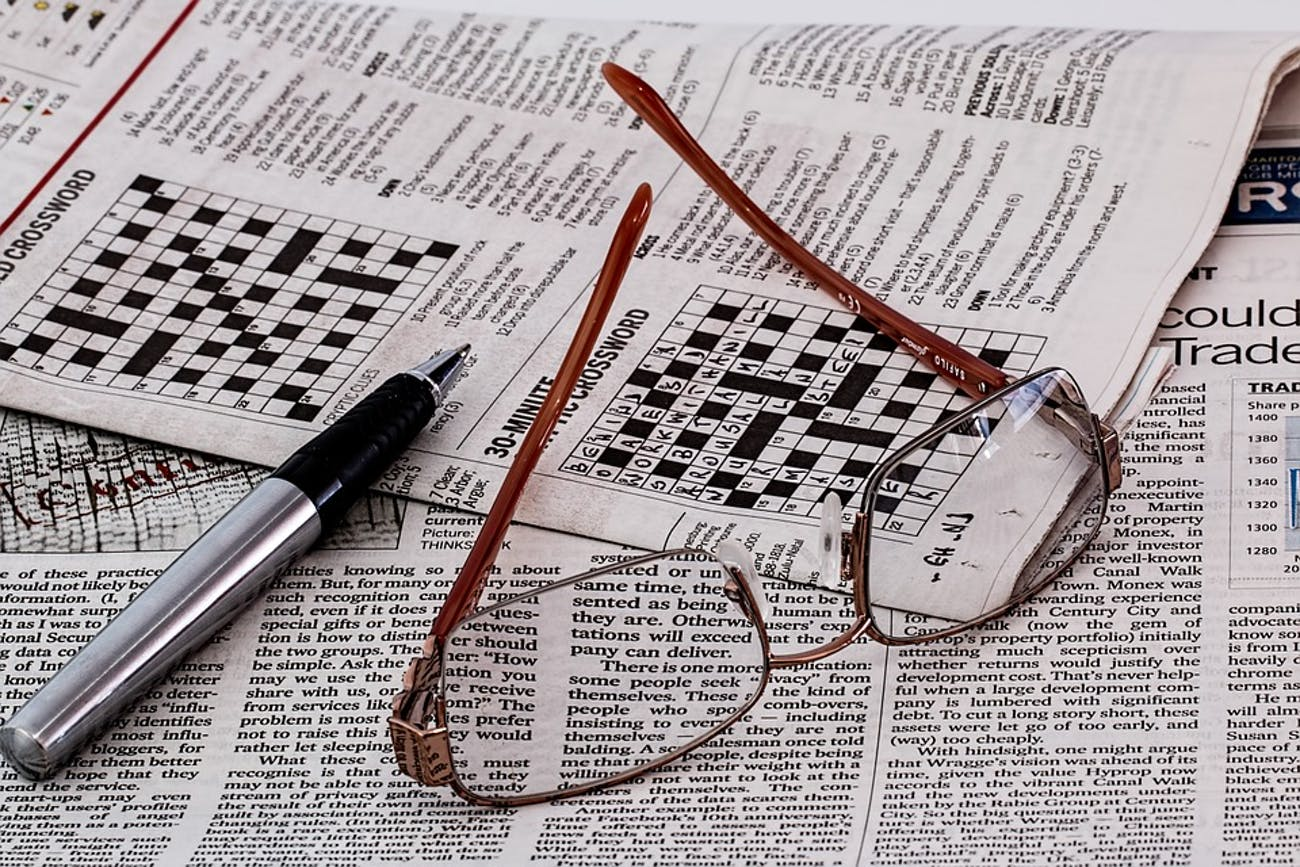Aging: Daily Crosswords and Puzzles Keep the Brain Sharp as