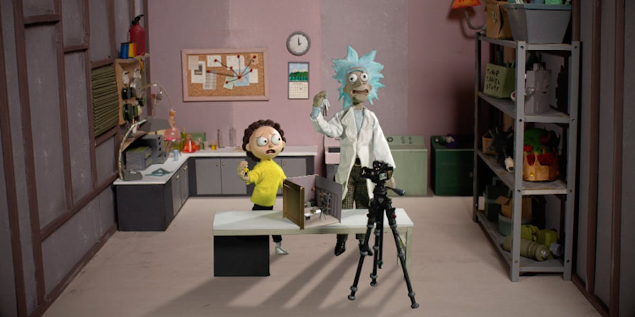Rick and Morty in Claymation