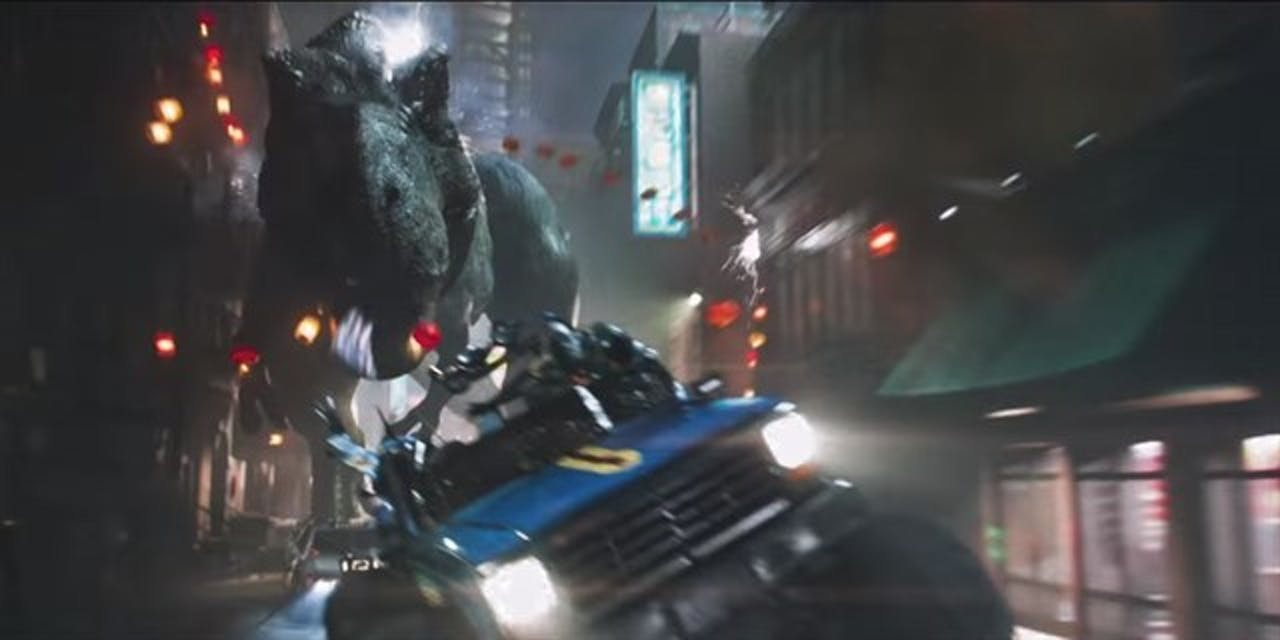 The T-rex is yet another huge Easter egg that doesn't show up in the 'Ready Player One' book.