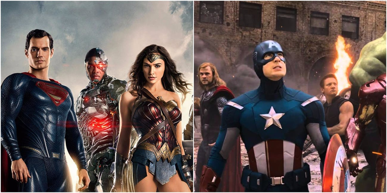 dc justice league avengers marvel