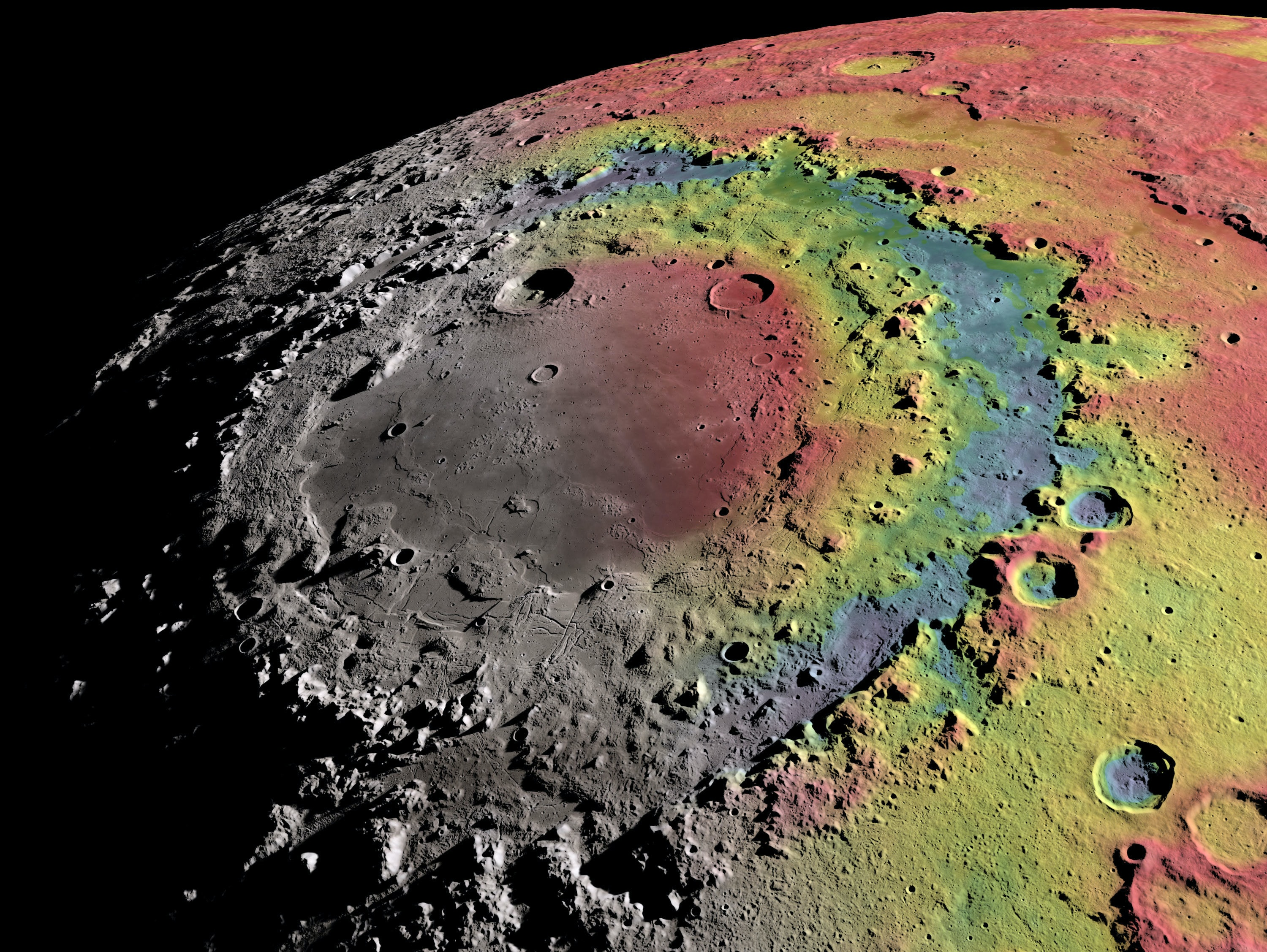 Astronomers Now Know How the Moon Got Its Bulls-eye Crater