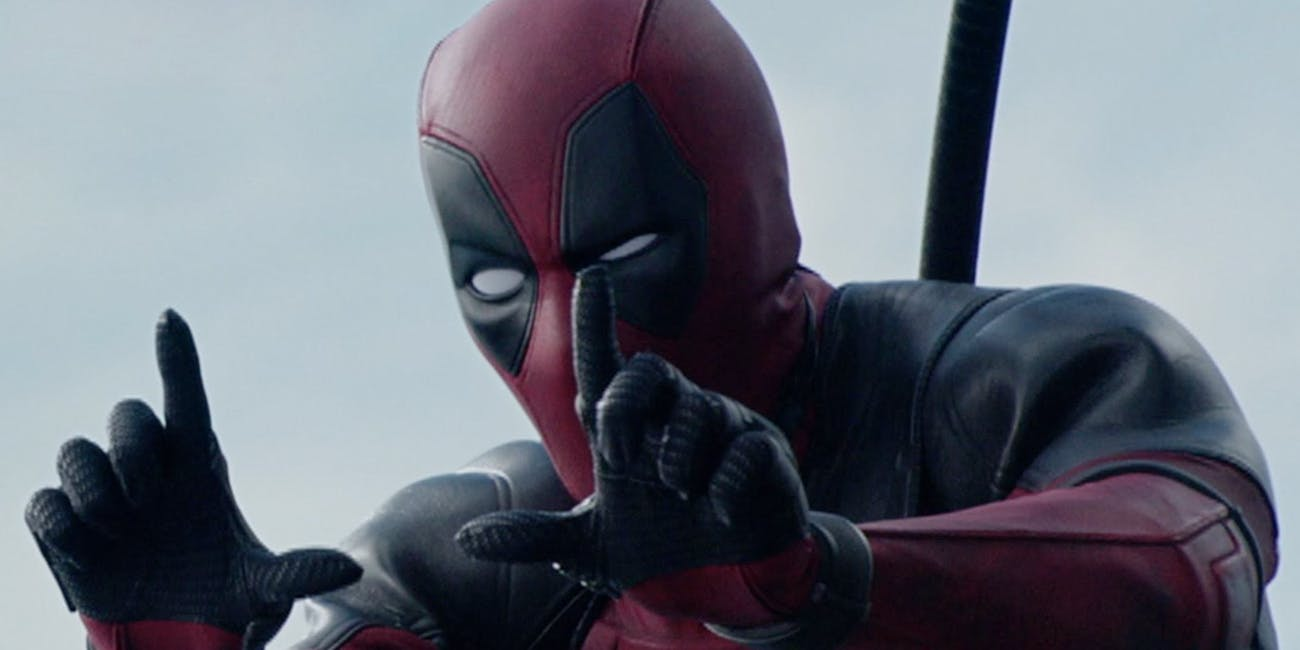 Deadpool frames the shot.