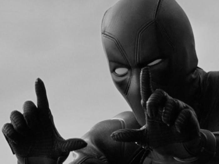 Deadpool frames the shot.