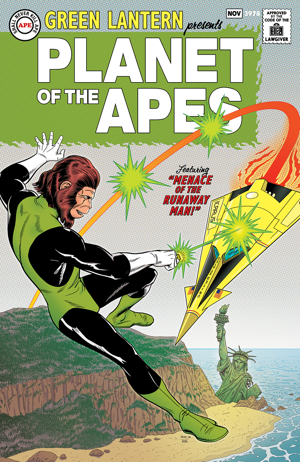Green Lantern Planet of the Apes cover