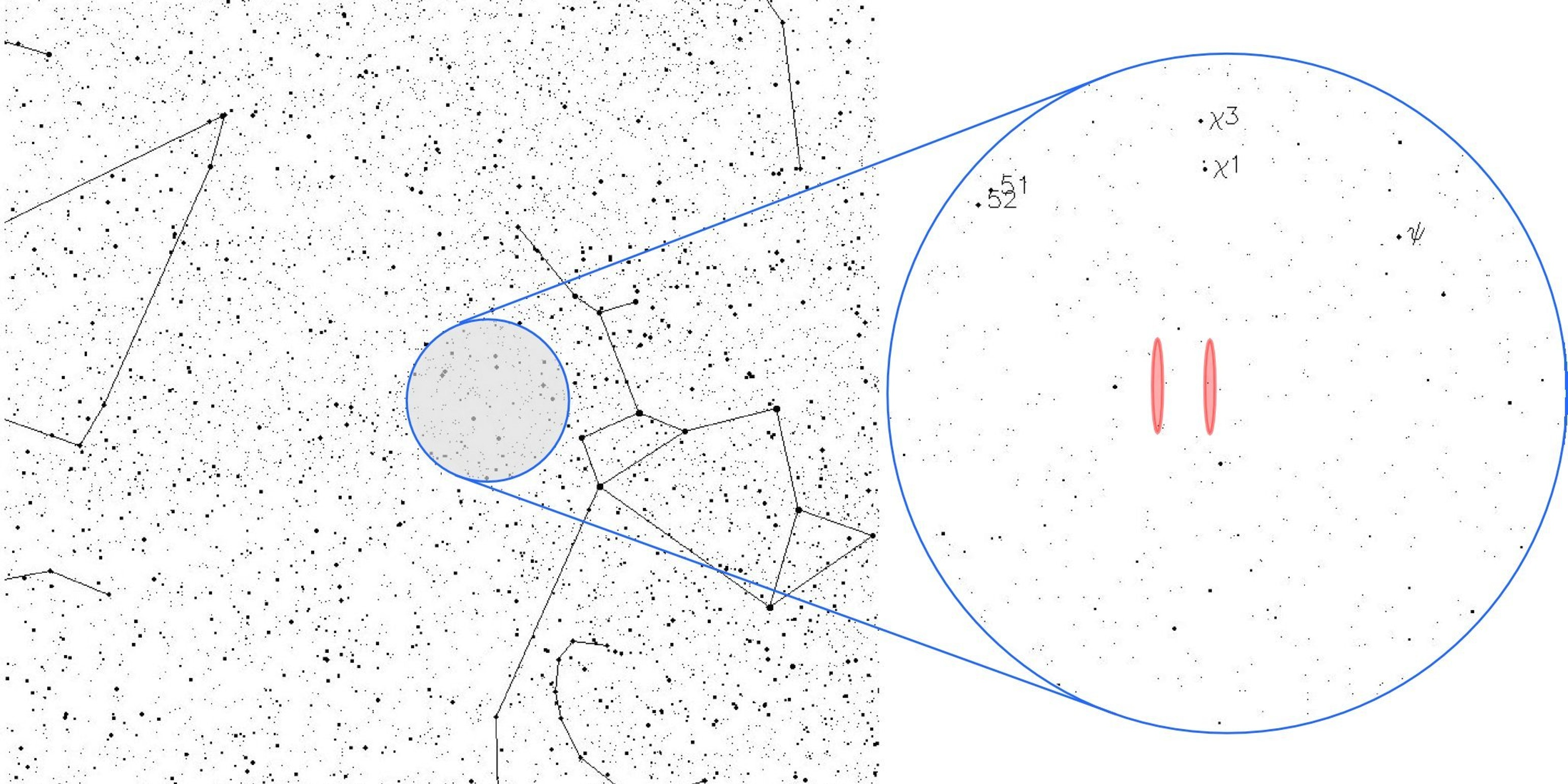 The location of the signal in the constellation Sagittarius, near the Chi Sagittarii star group.