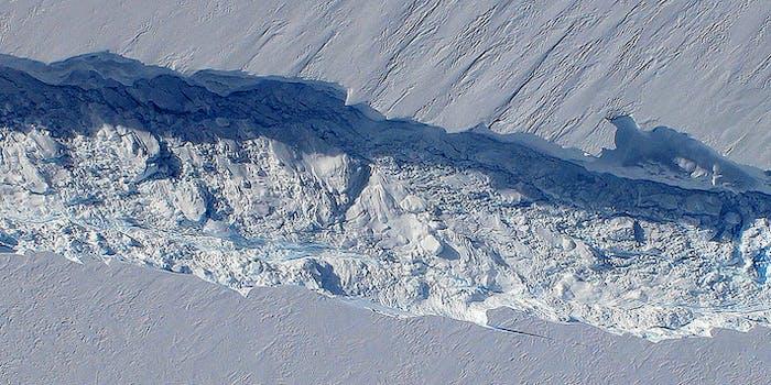 Birth of an Iceberg, Pine Island Glacier, Antarctica - NASA Earth Observatory