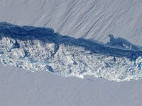 Birth of an Iceberg, Pine Island Glacier, Antarctica - NASA Earth Observatory