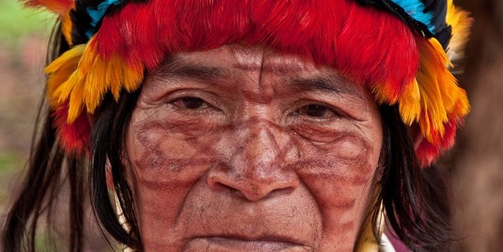 Amazonian Achuar Person