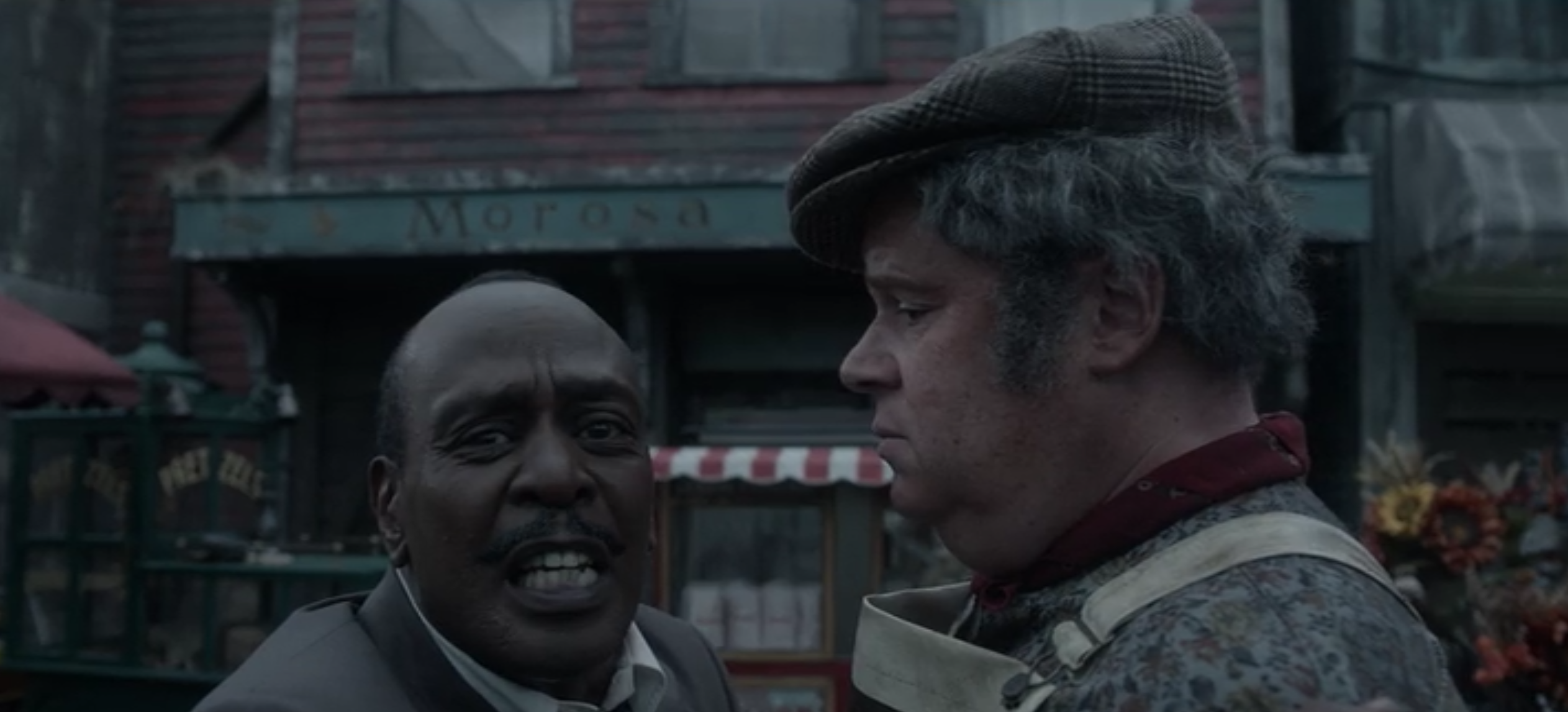 K. Todd Freeman as Mr. Poe alongside Daniel Handler, i.e. the real Lemony Snicket.