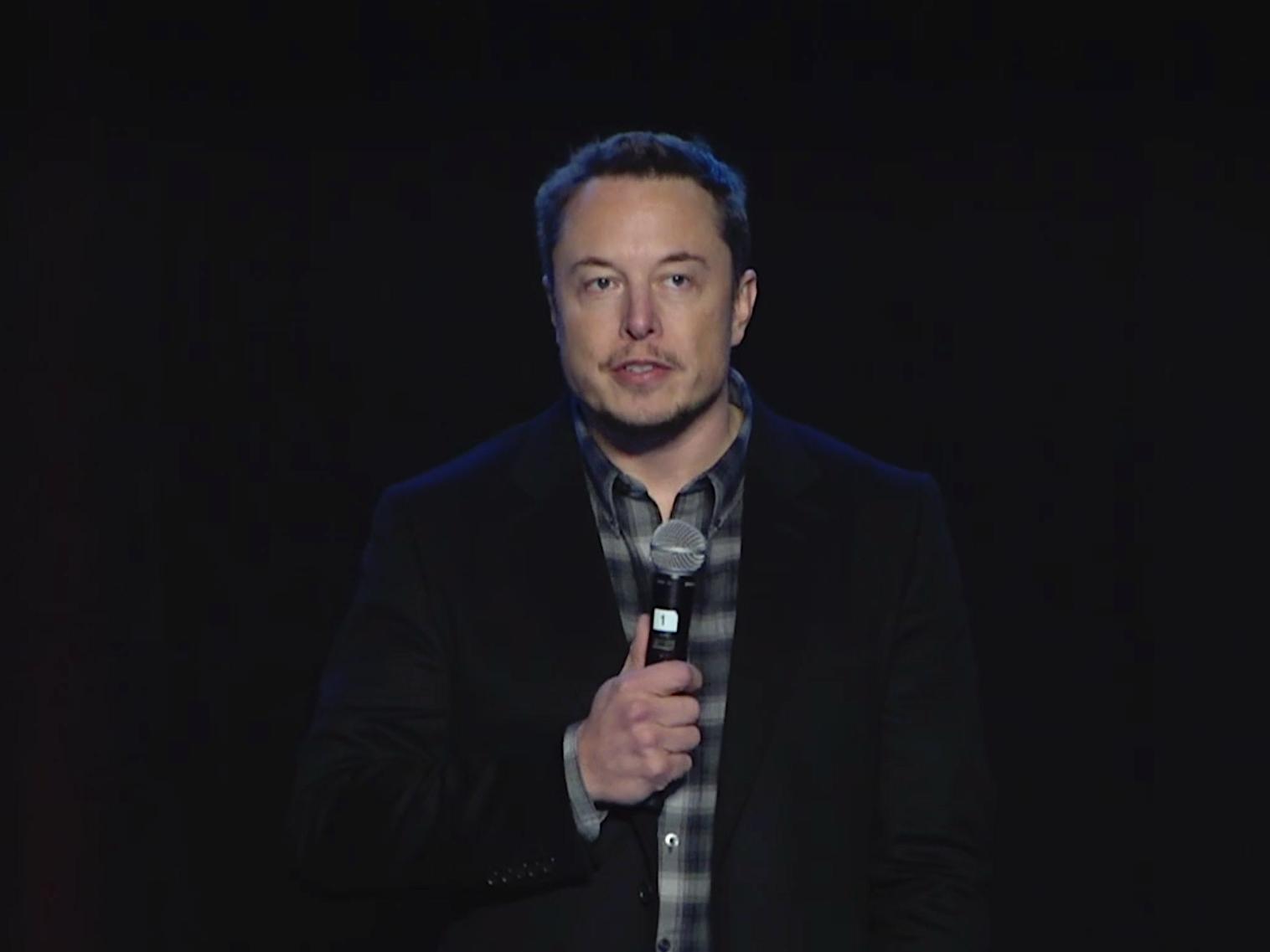 Elon during Thursday's post-vote Q&A session.
