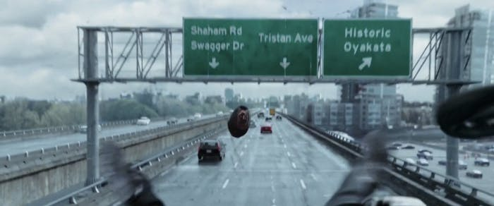 While funny, the street signs in 'Deadpool' are really unhelpful.
