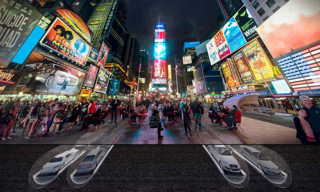 In New York City, CarTube could help you avoid Times Square, the worst place on Earth.