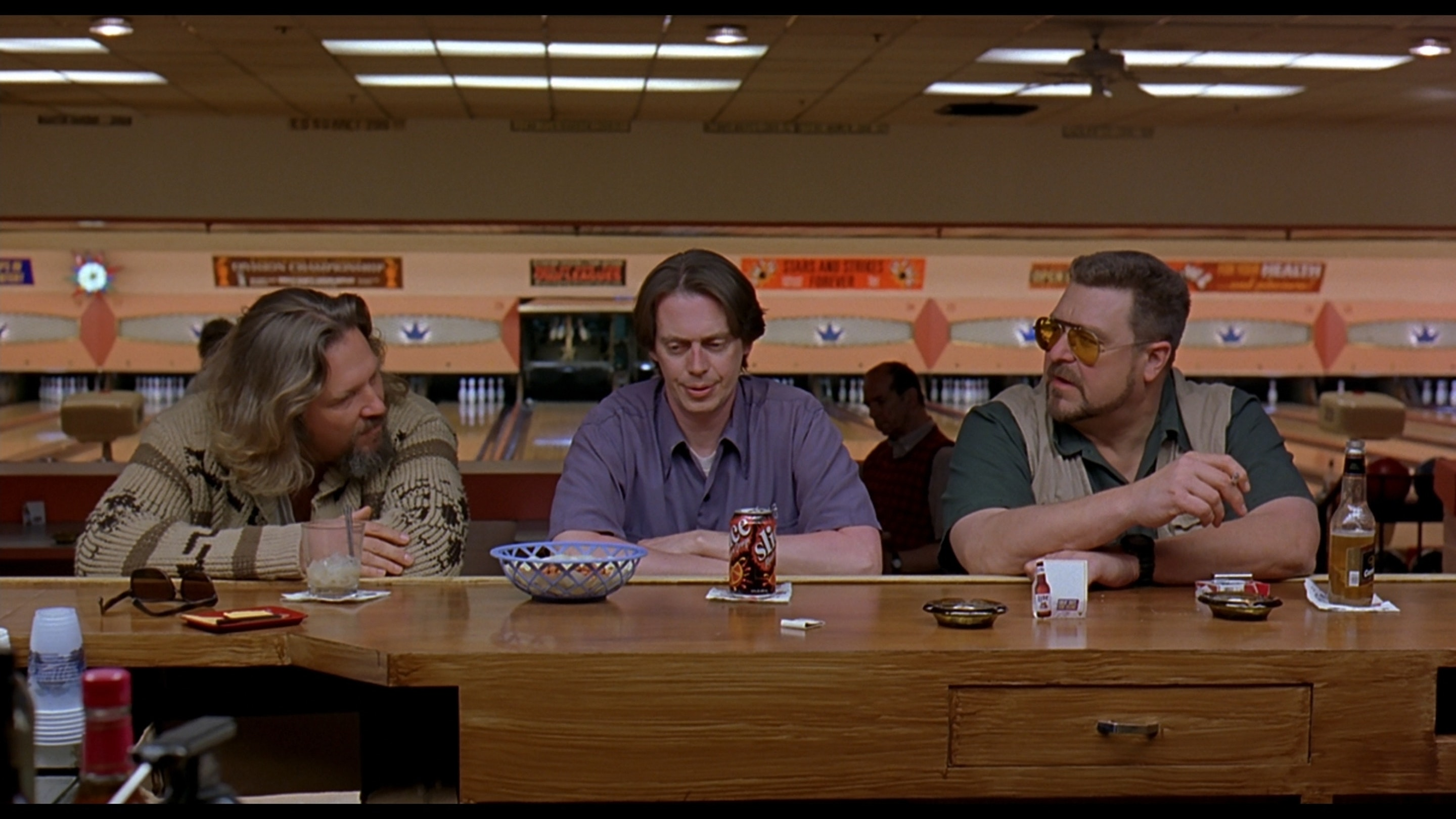 Jeff Bridges, Steve Buscemi, and John Goodman in 'The Big Lebowski'