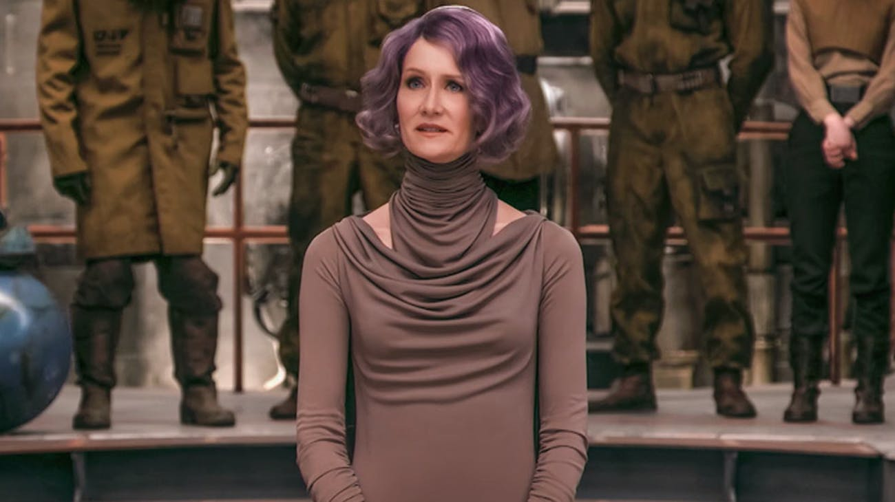 Laura Dern as Admiral Holdo in 'The Last Jedi'
