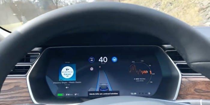 Elon Musk Autopilot video