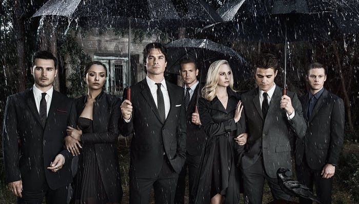 the cast of 'The Vampire Diaries' sans Nina Dobrev