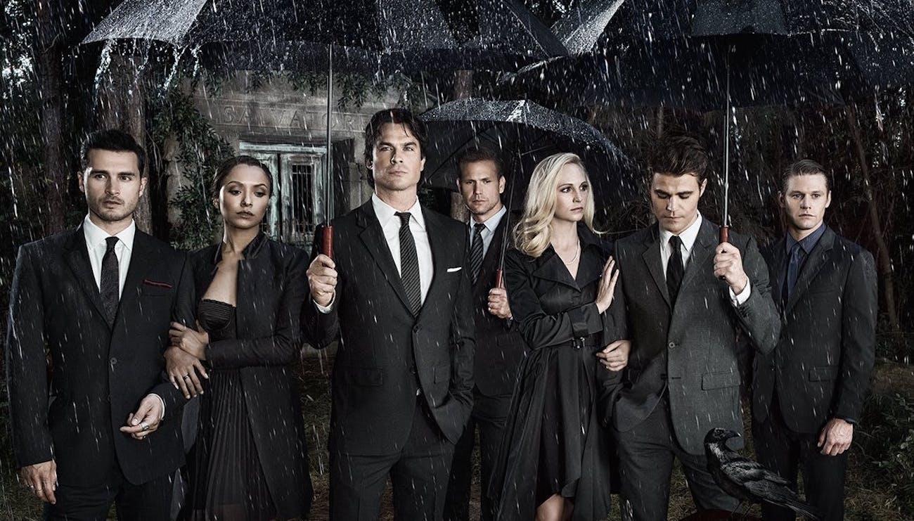 the cast of 'The Vampire Diaries' sans Nina Dobrev