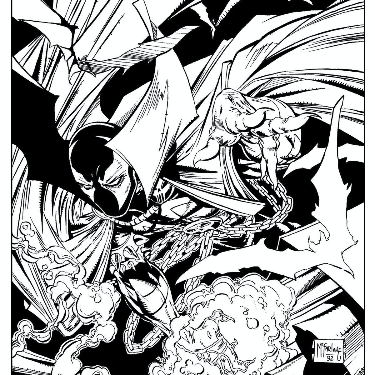 Image Comics \'Spawn\' Adult Coloring Book Is Accidental Man ...