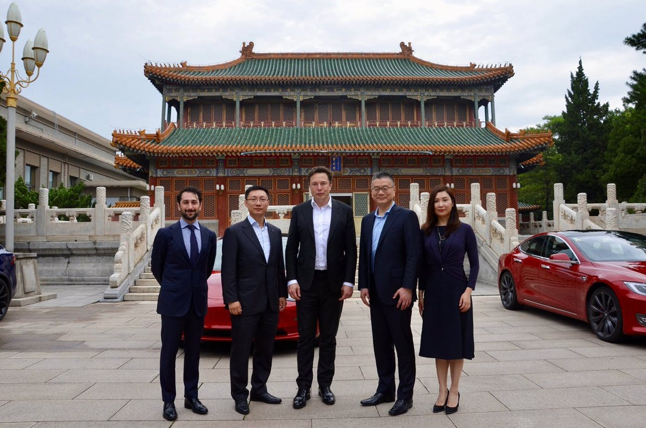 Tesla CEO Elon Musk in China