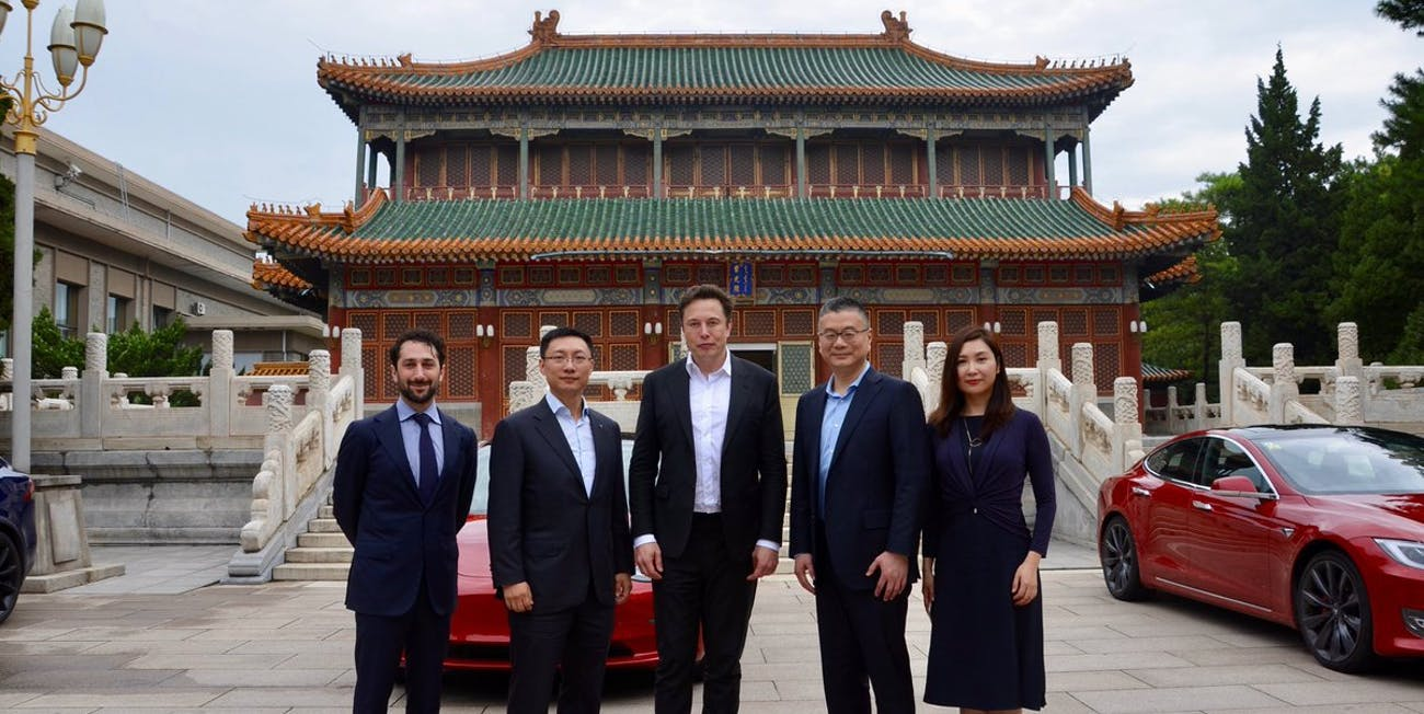Tesla CEO Elon Musk in China