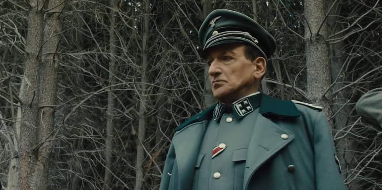 Sir Ben Kingsley as Adolf Eichmann in 'Operation Finale'.