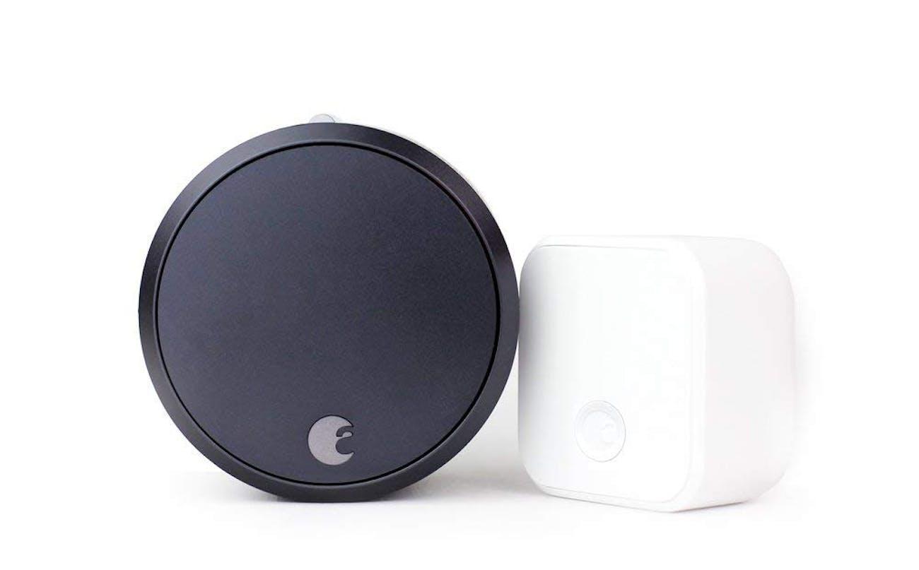 August Smart Lock Pro + Connect, 3rd gen technology - Dark Gray, works with Alexa